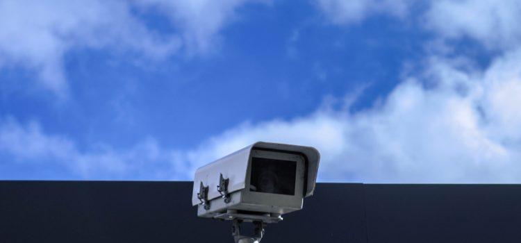 Cámaras de vigilancia en el centro de trabajo